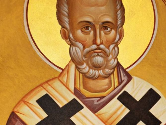 A painting of Saint Nicholas the patron saint of Greece