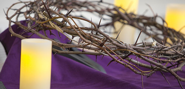 Crown of thorns displayed at New Jersey church
